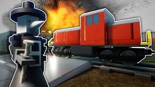 We Tried To Crash the Lego Train with SCP 049 in Brick Rigs Multiplayer