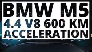 BMW M5 4.4 V8 600 KM (AT) - acceleration 0-100 km/h