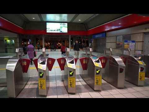 Taiwan, Taipei, MRT ride from Zhishan to Mingde, 1X escalator, 1X elevator