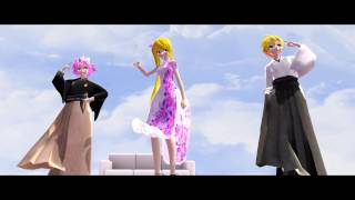 (MMD)Fairy Tail x VOCALOID-WAVE (Model DL)