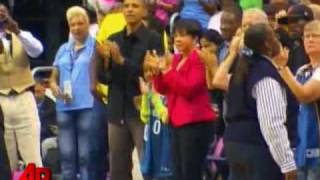 Raw Video: Obama Watches WNBA