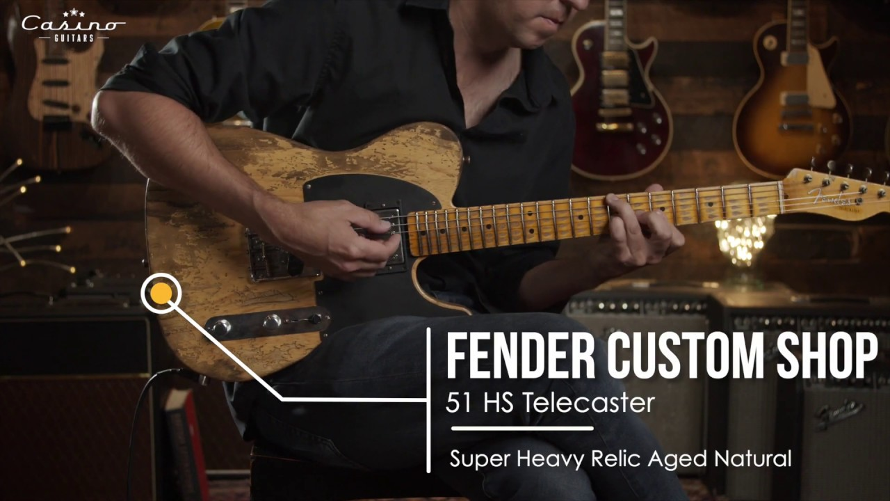 Fender Custom Shop 1951 HS Telecaster Aged Natural Super Heavy Relic