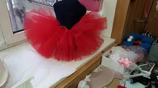 Видео обзор юбки пышной для девочки. Будет костюм мини маус.