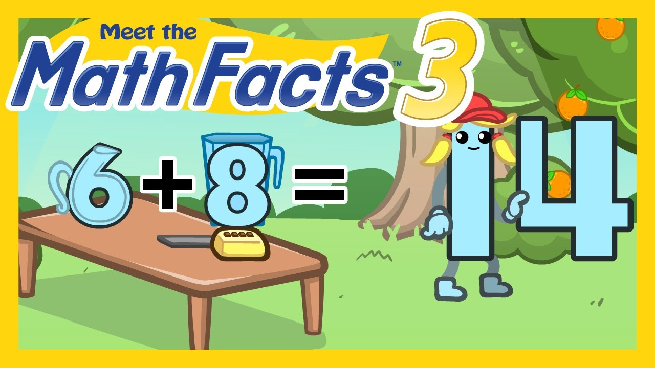 Meet the Math Facts Level 3 - 6+8=14 - YouTube