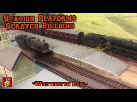 Building a Model Railway – Station Platforms – Scratch Building