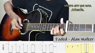FADED - ALAN WALKER - Fingerstyle Guitar Tutorial TAB (Intermediate - Advance LEVEL)