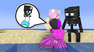 Monster School : MERMAID & WITHER SKELETON BABY LIFE - Minecraft Animation