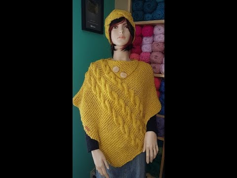 How to knit a cable poncho