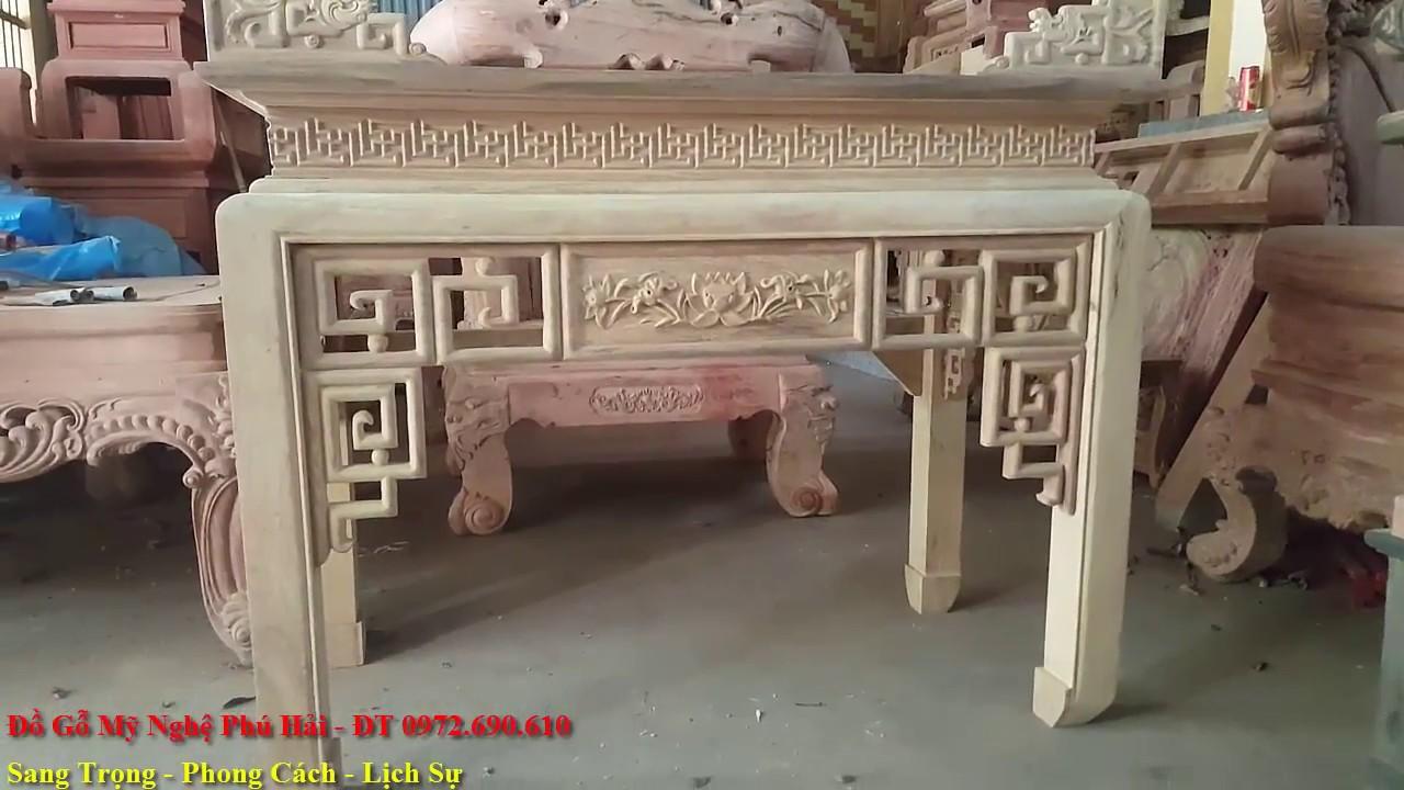 Bàn Thờ Nhỏ Cho Nhà Chung Cư – Mẫu Bàn Thờ Gỗ Gụ Nhỏ Xinh Cho Căn Hộ Và Chung Cư