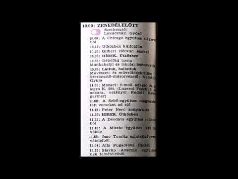 Zenedélelőtt. Újratöltve. Szerkesztő: Lukácsházi Győző. 1984.02.28. Petőfi rádió. 10.00-12.25.