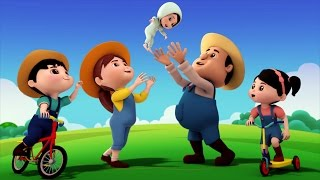 farmer finger family | nursery rhymes | kids songs | 3d rhymes | childrens rhyme by Farmees S01E111