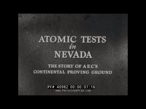 ATOMIC BOMB TESTS IN MERCURY, NEVADA HISTORIC FILM 40982