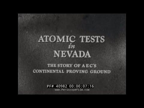 ATOMIC BOMB TESTS IN MERCURY, NEVADA HISTORIC FILM 40982