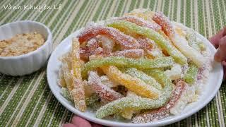 BÁNH TẰM - Cách làm Bánh Tằm Khoai mì dẻo mềm - cách tạo Màu từ Rau củ by Vanh Khuyen