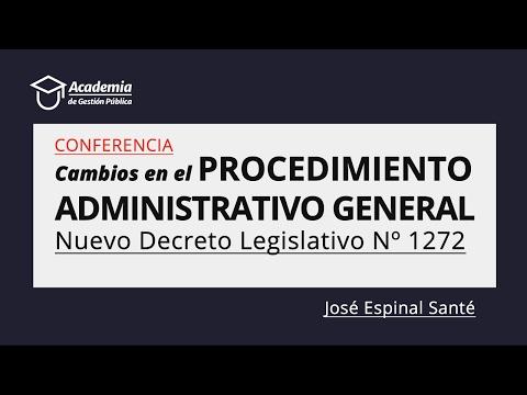 Cambios en el Procedimiento Administrativo - Decreto Legislativo Nº 1272