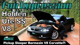 PICKUP Sleeper Bermesin V8 CORVETTE! - Holden Ute SS V8 2002 FUN IMPRESSION | LugNutz Indonesia