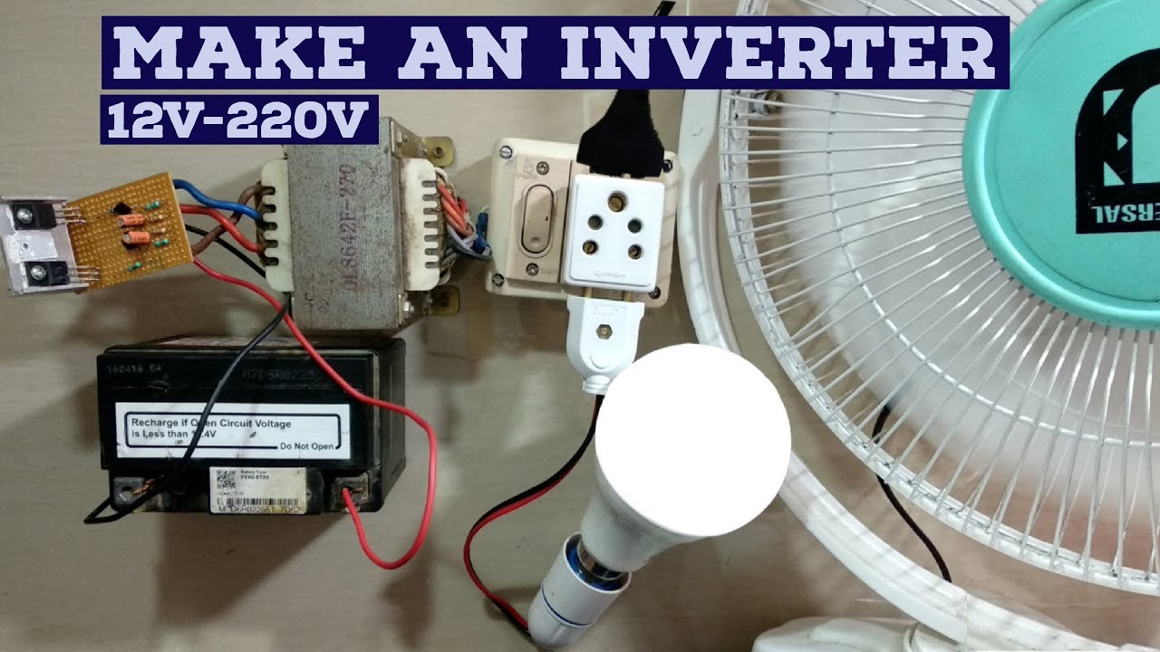 How To Make Inverter 12v 220v Simple Circuit Diagram Youtube