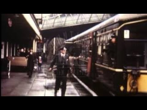 Train Journey Across North Wales, 1970s Film 3702