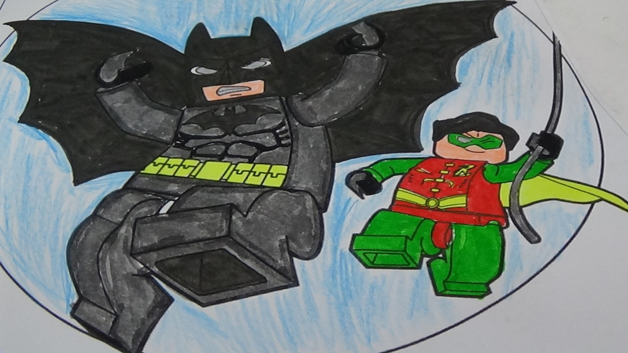 the lego batman colouring pages with batman and robin coloring to