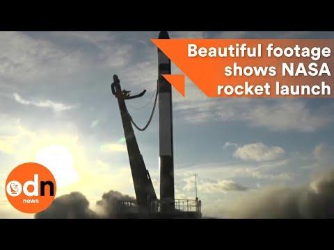 Beautiful footage shows NASA rocket launch