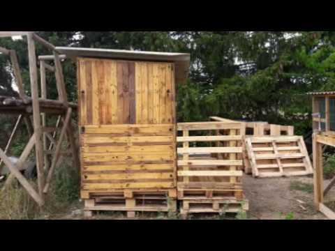 fabriquer une cabane avec des palettes youtube. Black Bedroom Furniture Sets. Home Design Ideas