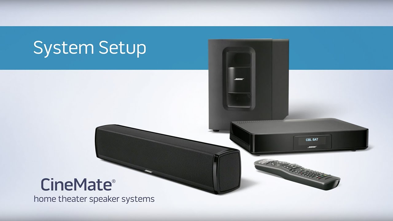 Bose Cinemate Home Theater Speaker Systems System Setup Youtube Wiring A Audio