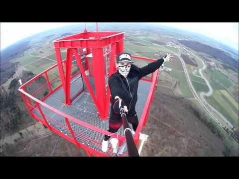 Climbing a 174m Radio Tower in Nördlingen, Germany | Lele Matthew