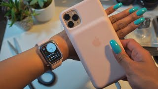Apple Watch SERIES 5 40mm Gold Aluminum-GPS-Unboxing+Setup+Accessories | Maureen Scott