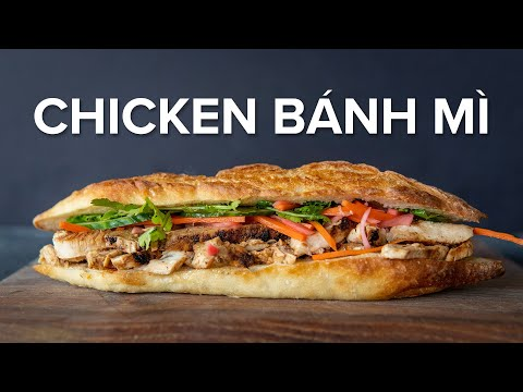 A (kind of traditional) Chicken Banh Mi