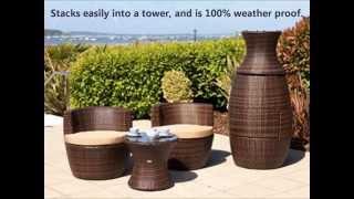 Cozy Bay Provence Rattan Bistro Set - Outdoor Wicker Patio Furniture