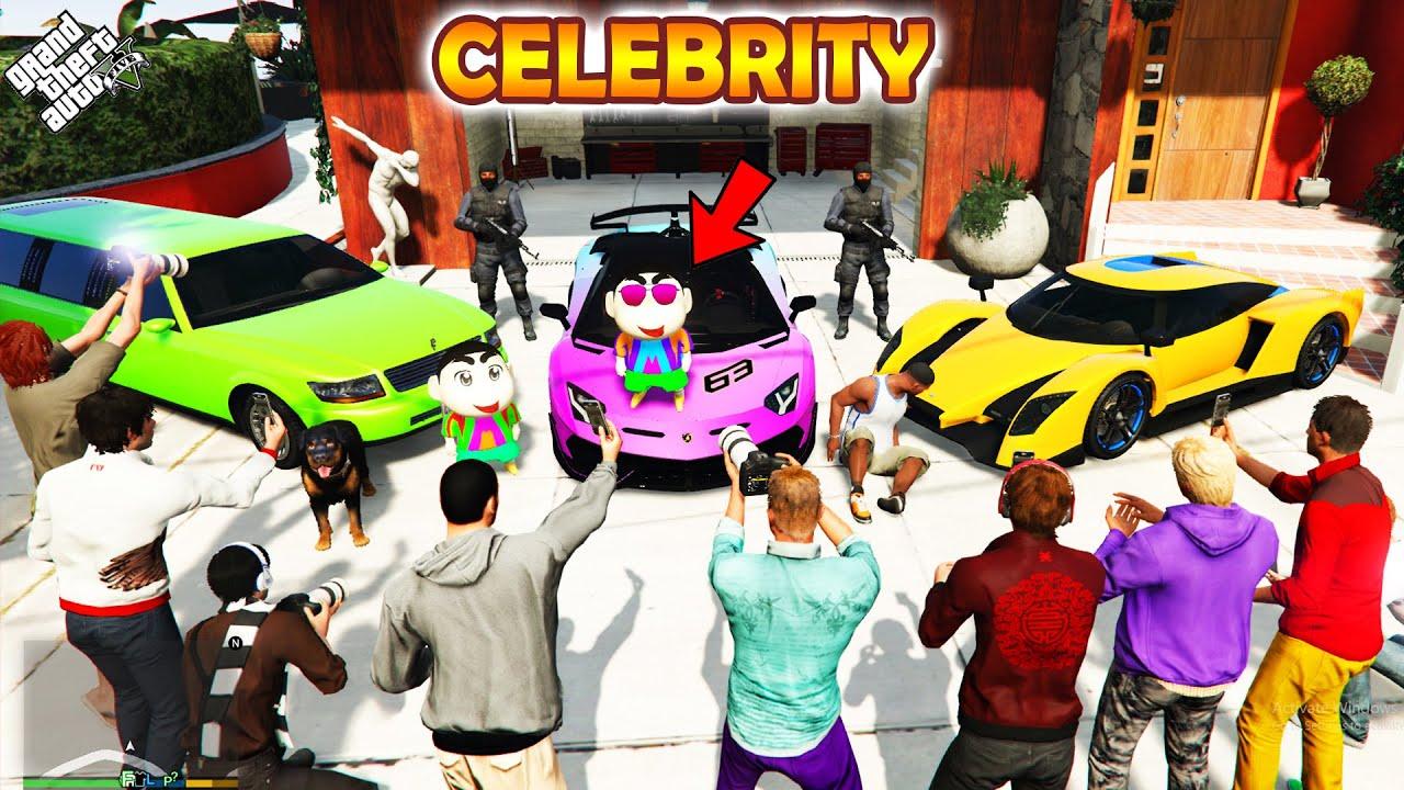 GTA 5 : Shinchan Become Celebrity To Cheat With Pinchan & Franklin in GTA 5 ! (GTA 5 mods)