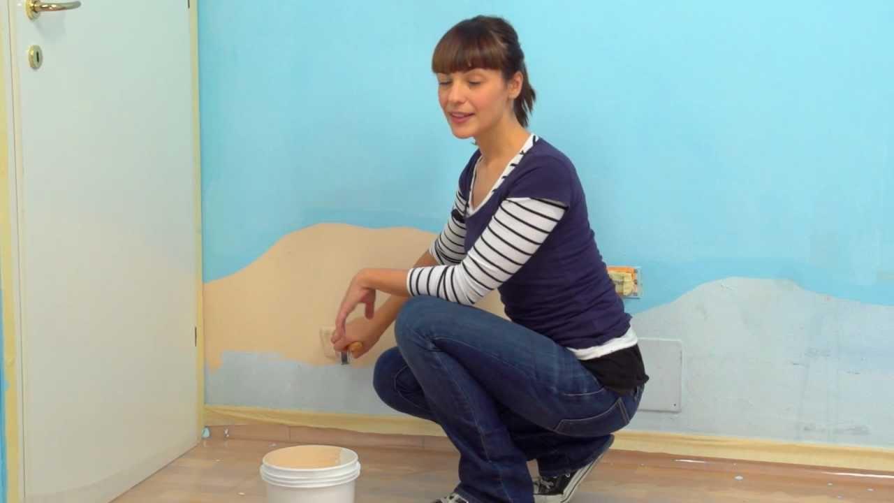 Dipingere la Cameretta come un fondale marino  Parte 1 Disegnare lo sfondo sulle pareti  YouTube