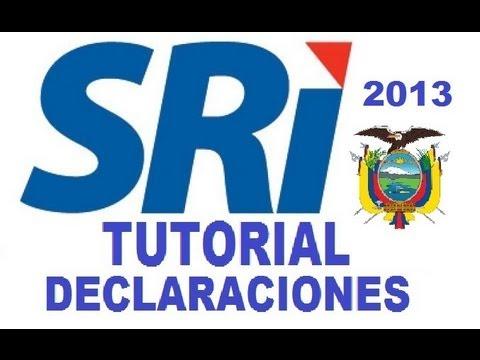 Tutorial de declaraciones SRI como declarar por internet dimm formularios ecuador febrero 2013