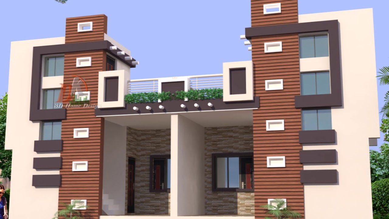 Single Floor Row House Elevation : Single floor twin house elevations youtube