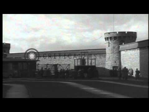Execution of a German war criminal by hanging in Bruchsal, Germany after World Wa...HD Stock Footage