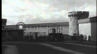 Repeat youtube video Execution of a German war criminal by hanging in Bruchsal, Germany after World Wa...HD Stock Footage