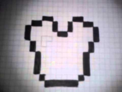 Como Dibujar La Pechera De Diamante De Minecraft