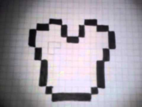 Como dibujar la pechera de diamante de minecraft  YouTube