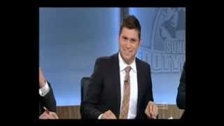 The Sunday Footy Show AFL (2013) - Dennis Cometti tucks his suit into his belt