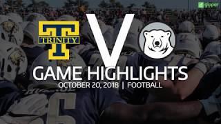 Trinity Football v. Bowdoin Highlights - 10/20/18