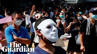 Hong Kong mask ban law sparks new protests