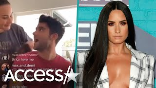Demi Lovato Crashes New Boyfriend Max Ehrich's Instagram Live