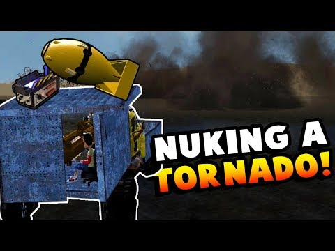 DRIVING A NUKE INTO AN F5 TORNADO! - Garry's Mod Gameplay (Gmod Roleplay) - Tornado Survival!