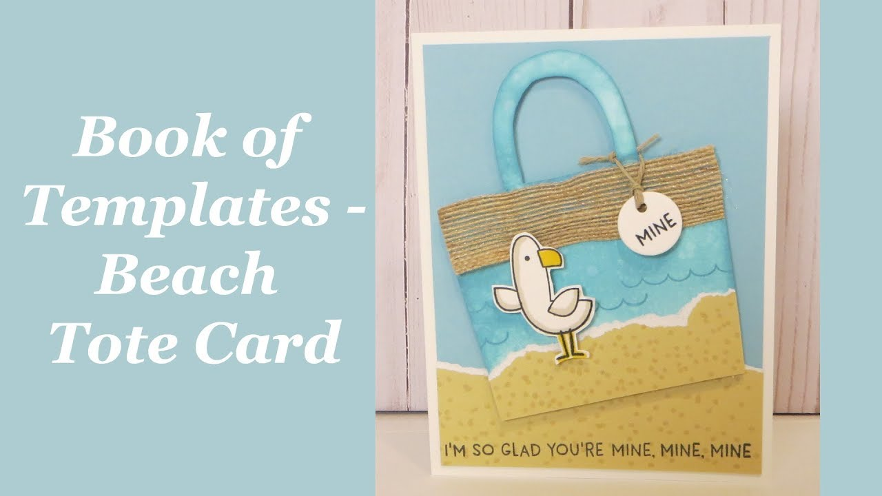beach tote card tutorial a look at the book of templates magazine