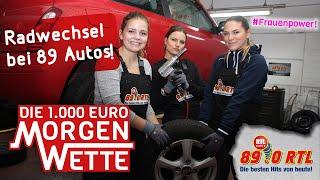 Die 89.0 RTL Mädels sollen 89 Räder wechseln - 1.000 Euro Morgenwette