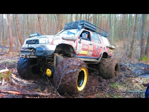 offroad 4x4 hard mudding deep mud full time 4wd внедорожники на бездорожье Crazy offroad mudding!