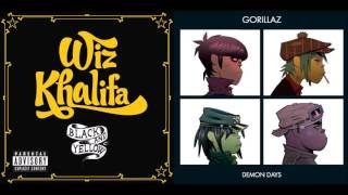 Feel Good in Black and Yellow - Wiz Khalifa vs. Gorillaz (Mashup)