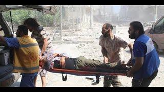 أخبار عربية - طائرات النظام السوري تقصف الجثث في حلب الشرقية
