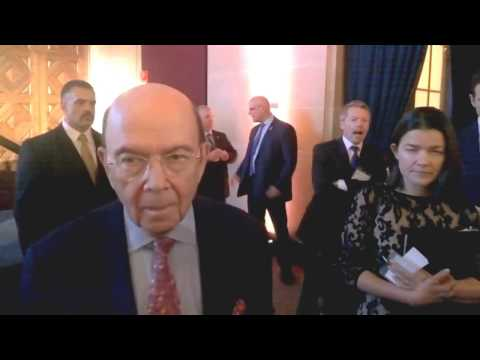 CI MENA speaks with Commerce Secretary Wilbur Ross at Iraq PM event #Amcham