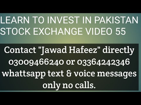 Learn to invest in Pakistan stock exchange video 55